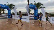 video: atleta argentino festejo antes de tiempo ¡y lo pasaron!