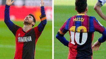 La estrella del Barcelona, Lionel Messi, homenajeó a Maradona
