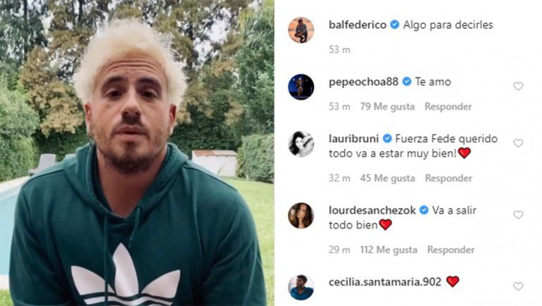 Federico Bal anunció que padece cáncer
