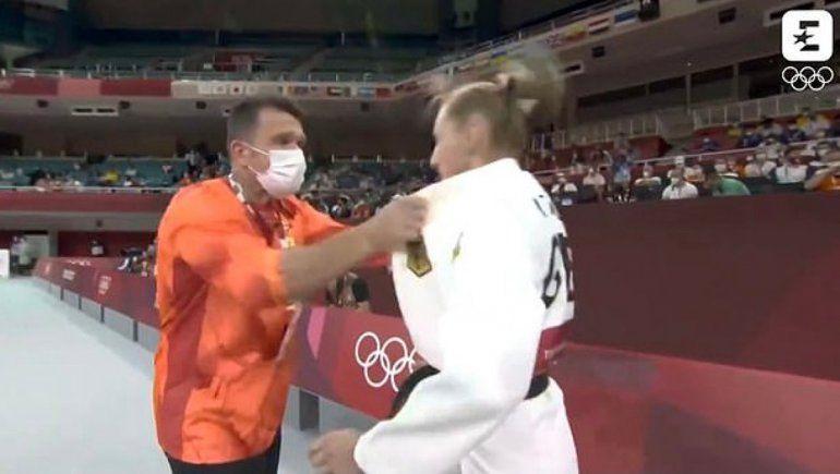 La polémica arenga de un entrenador a su judoca