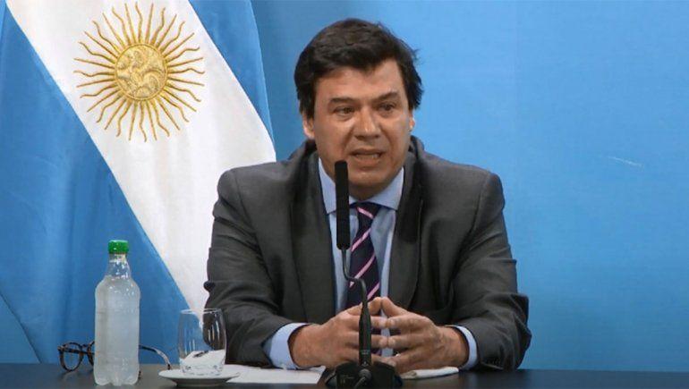Claudio Moroni, ministro de Transporte.