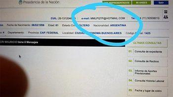 Hackearon la cuenta de ANSES de Mauricio Macri