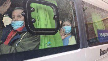 Abuelos recuperados del COVID volvieron al geriátrico de Chos Malal