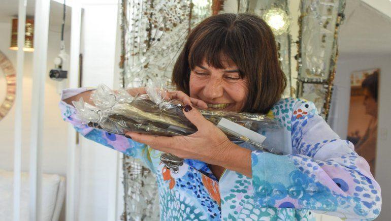 La artista que le rinde tributo a la flora de la barda con chocolate