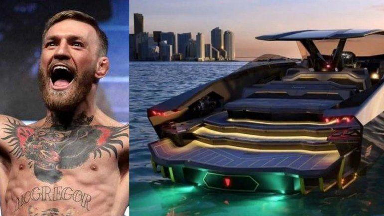 La última excentricidad de McGregor: se compró un auto-yate de Lamborghini