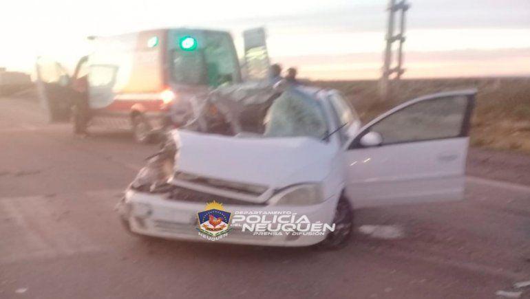 Grave accidente y milagro en la Autovía Norte
