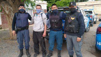 El oficial perdido fue en bici hasta La Rinconada y luego caminó 70 km