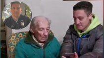 messi sorprendio a un fanatico de 100 anos que anota todos sus goles en hojas