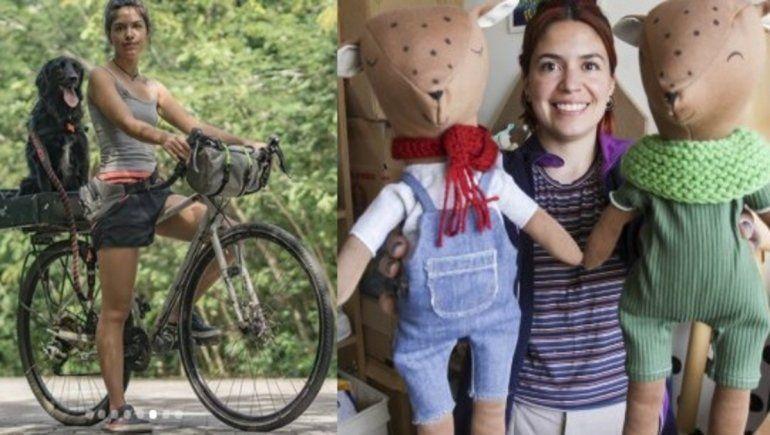 Recorrió América en bici con su perra y se reinventó haciendo juguetes didácticos
