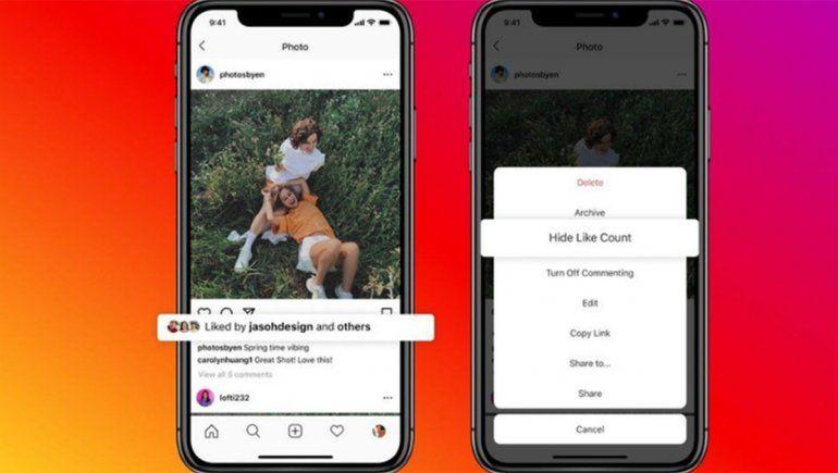Chau corazoncito: Instagram ocultará los likes para reducir la presión de las redes