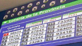 Resultado Quiniela de la Provincia: Primera del 21 de abril
