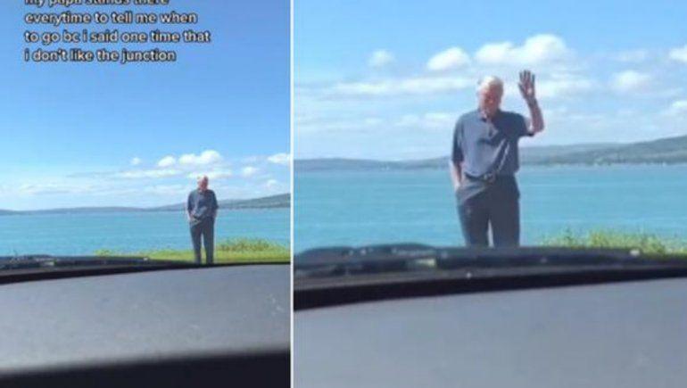 TikTok: abuelo conmueve en las redes al enseñar a su nieta a conducir.