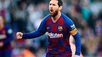Uno de los tantos festejos de La Pulga Messi
