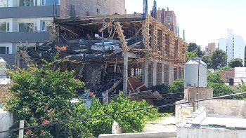 derrumbe en una obra en construccion en la zona centrica