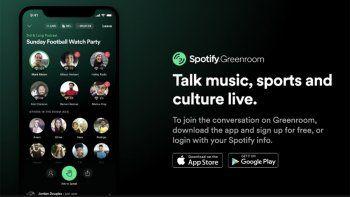 spotify lanza greenroom su alternativa a clubhouse