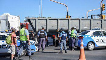 Murió atropellada una mujer ciclista en Ruta 22