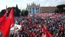 sindicalistas en contra de los fascistas