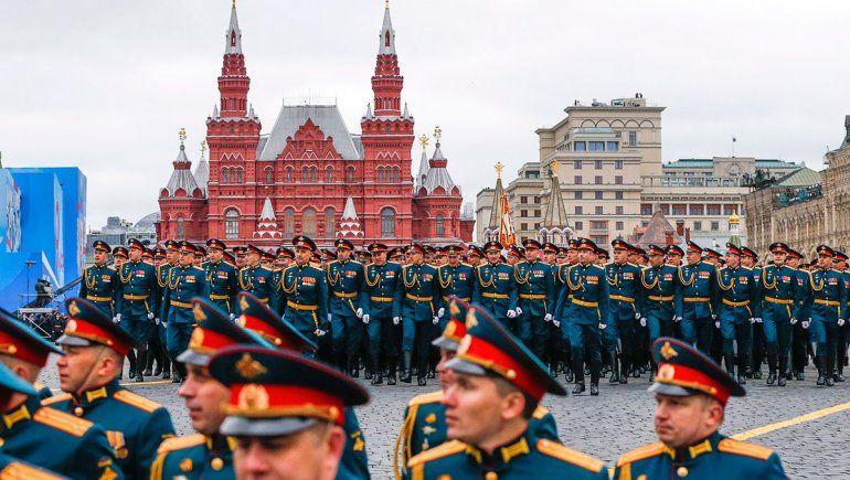 En el Día de la Victoria, Putin desplegó su fuerza militar