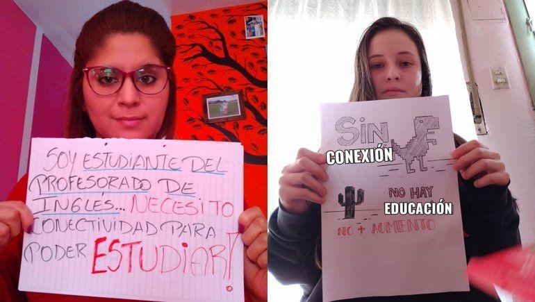 Los estudiantes del ISFD N° 10 reclaman poder tener sus clases por internet.