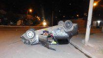 dos vuelcos en una noche: una alcoholemia y un peaton herido