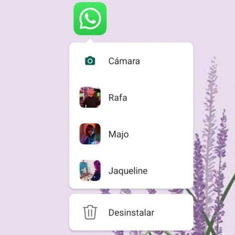 Funciones ocultas en el ícono de WhatsApp.