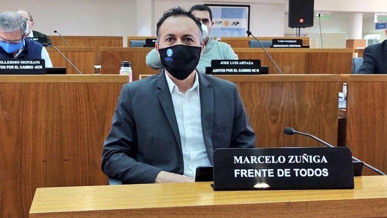 Marcelo Zúñiga dio positivo y cierran el Concejo Deliberante