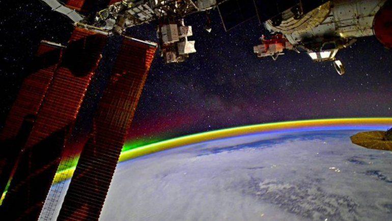 La Estación Espacial Internacional deja ver la tierra en toda su magnificencia
