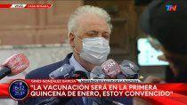 gines anuncio que la vacunacion podria arrancar en enero