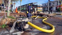 tres barrios del oeste, sin agua por reparaciones del epas