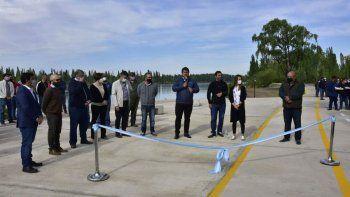 Gaido inauguró el Paseo Costero Limay Oeste
