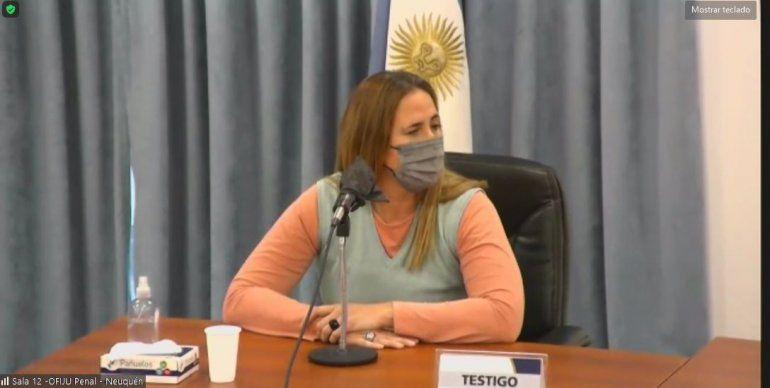 Silvana Mora, la hija de Roque Mora, quien fue asesinado.