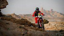 Kevin Benavides ganó la etapa 5 del Dakar 2021 y es el nuevo líder entre las motos.
