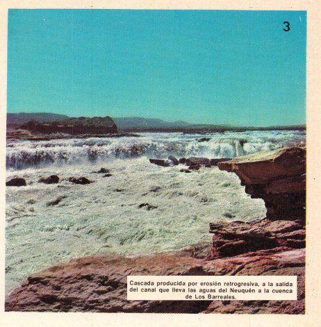 Pequeña cascada producida por la erosión retrogresiva del agua ingresando a Barreales.