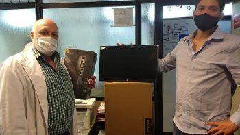 Alivio para el Castro Rendón: donan 18 monitores para COVID
