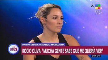 Rocío Oliva se defendió y contó su verdad sobre Diego