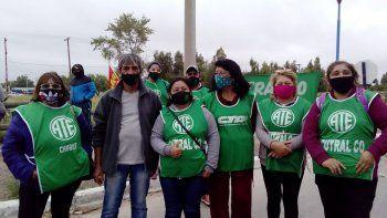 plaza huincul: ate y aten bloquearon los accesos a la refineria