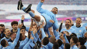 El Kun Agüero, una leyenda del Manchester City.