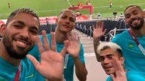 los brasileros se burlaron del sub-23 de argentina y los mayores salieron a bancarlos