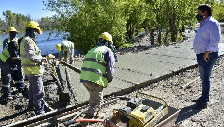 Las obras del Paseo Costero avanzan hacia el límite con Río Negro