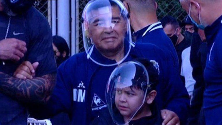 Por la aparición de Maradona explotó Gianinna