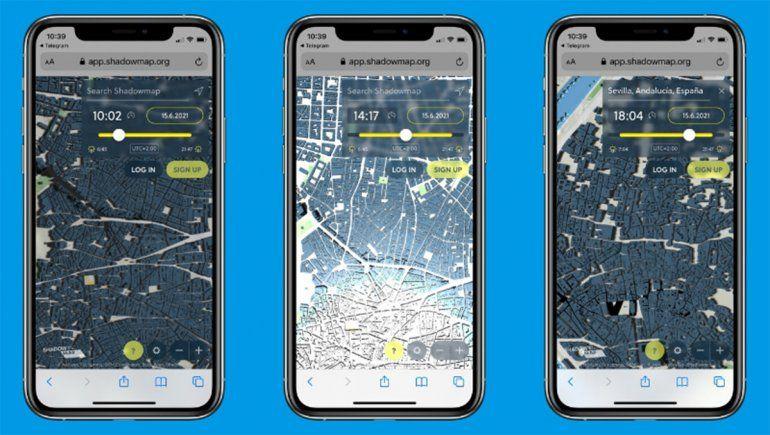 Shadowmaps, la app que ayuda a caminar por la sombra y evitar el sol