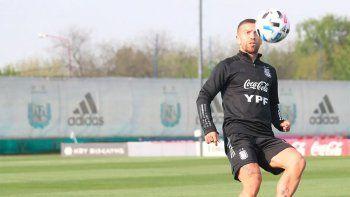 Papu Gómez en un entrenamiento. No entró ni un minuto.