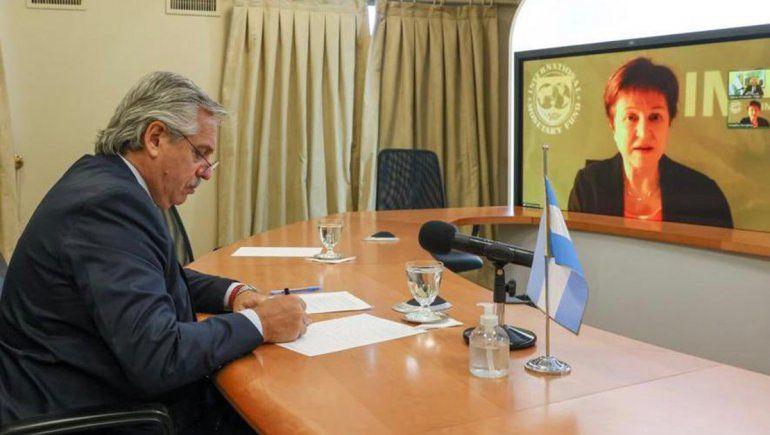 Alberto Fernández retomó el diálogo con la titular del FMI