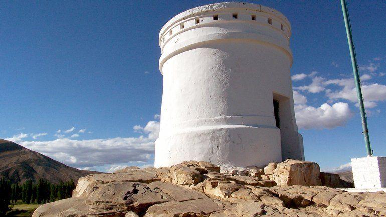 El Torreón, uno de los símbolos de la ciudad de Chos Malal.