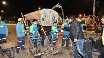 la muni realizo trabajos de limpieza en el barrio san lorenzo