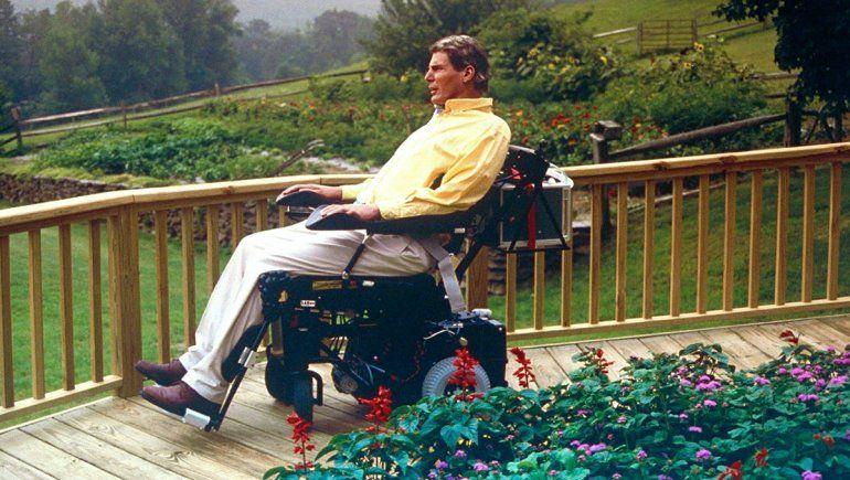 Reeve en su granja tras el accidente.