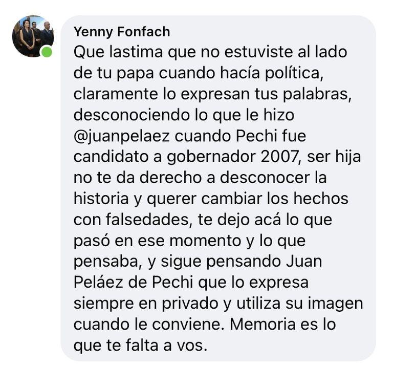 Yenny foncach, sobrina de Quiroga y mano derecha durante muchos años del ex intendente.