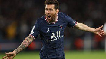Primer grito de gol para Messi con la camiseta del PSG.