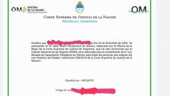 ley micaela: denuncian emision de certificados truchos a judiciales