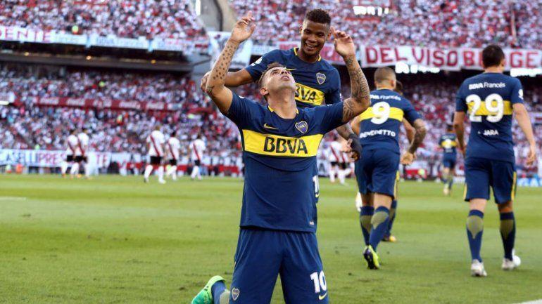 Cardona le hizo un gol a River en el Monumental.